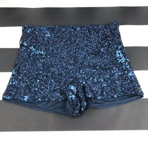 5 for $25 Forever 21 Blue Sequin High Waist Shorts